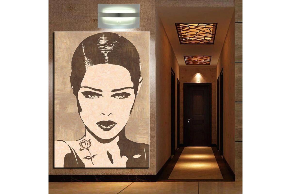 Kadın Yüzü Modern Dekorasyon Kanvas Tablo k68-28