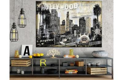 Şehir Görünüm Amerika Hollywood Kanvas Tablo dkm-k71-8