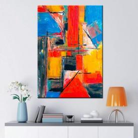 Renkler Soyut Kanvas Tablo dkm-73-35