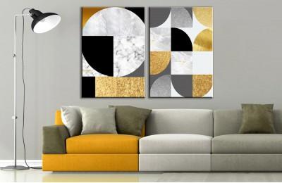 Modern Sanat 2 Parça Soyut Kanvas Tablo dkm-k73-K8-m4m6