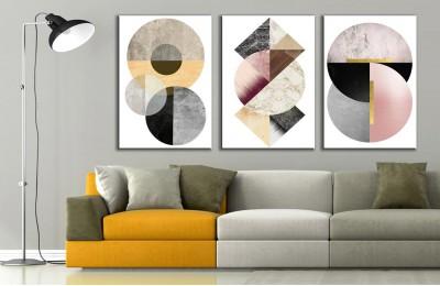 Modern Sanat Üçlü Kanvas Tablo dkm-k73-K8-m7m8m9