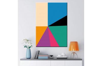Renkli Geometrik Şekiller Soyut Kanvas Tablo dsk-k1-4