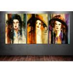 Şapkalı Kadınlar Yağlı Boya Görünüm Tablo dkm-k7