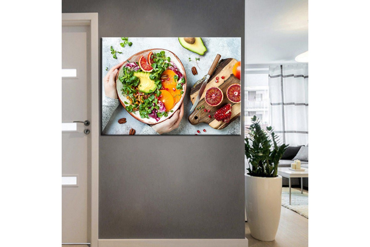 Beslenme Uzmanı ve Diyetisyen Dekorasyon Tabloları kns-07