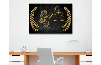 Avukatlık Bürosu Tabloları Hukuk Bürosu İç Dekorasyon kns-63