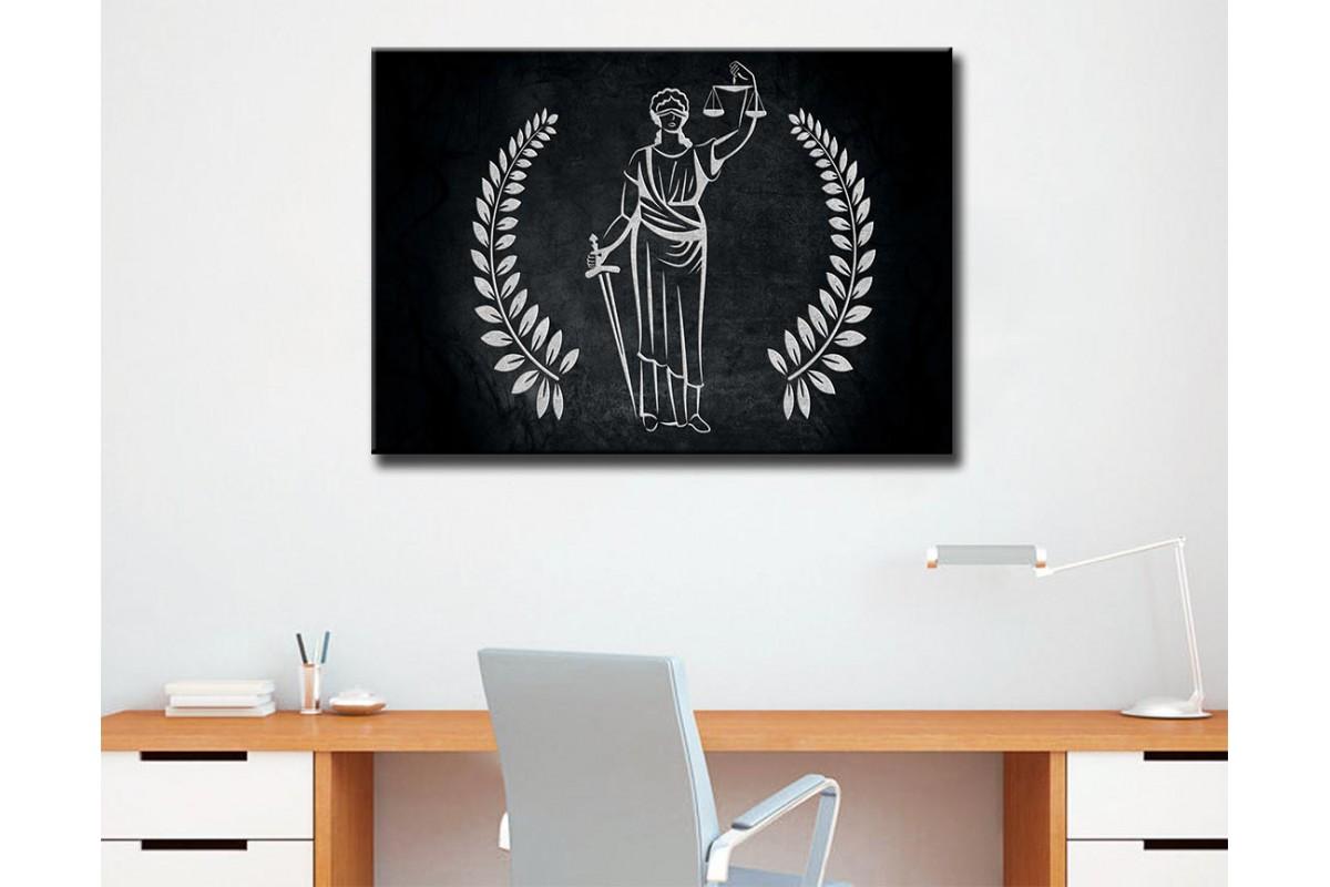 Avukatlık Bürosu Tabloları Hukuk Bürosu İç Dekorasyon kns-64