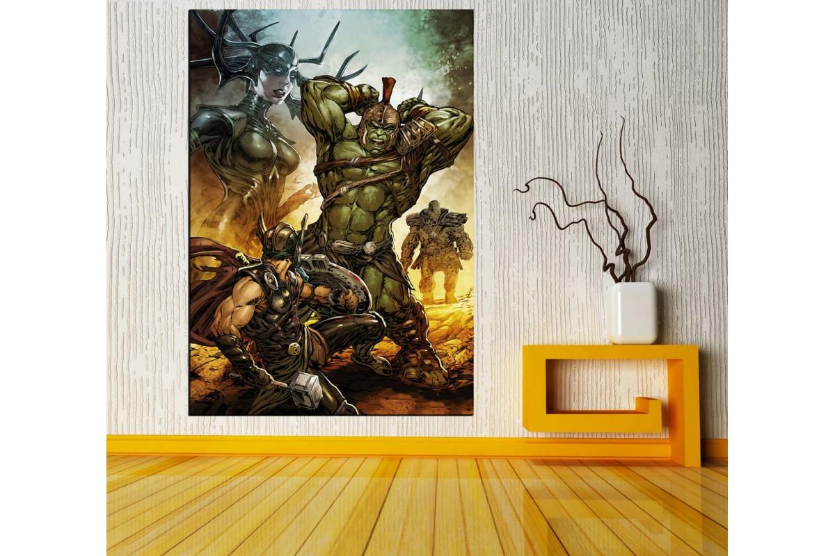 Thor Ragnarok Hulk Dikey Kanvas Tablo vng05