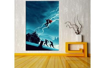 Thor Ragnarok Gökten İnen Thor Kanvas Tablo vng06