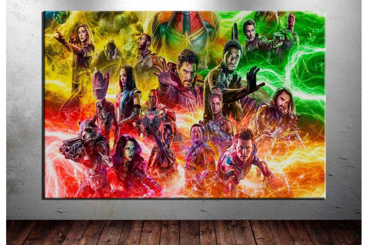 Avengers Karakterleri Kanvas Tablo dkm-vng08
