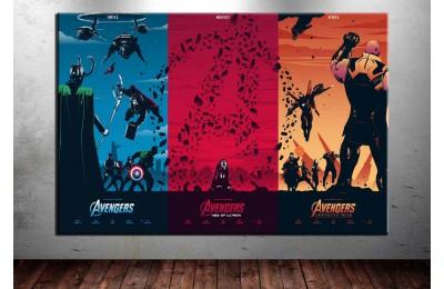 Avengers Cinematik Üçleme Kanvas Tablo dkm-vng09
