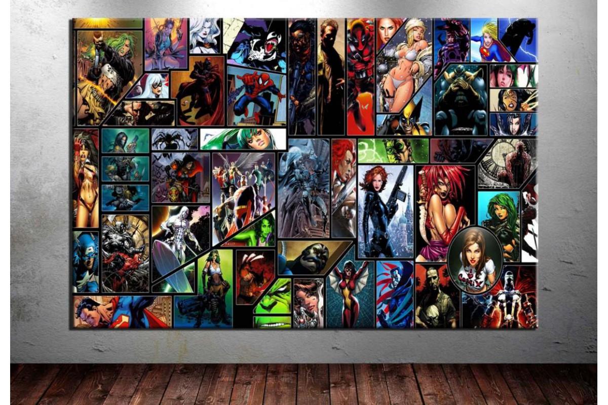 Marvels ve Dc Karakterler Kanvas Tablo dkm-vng11