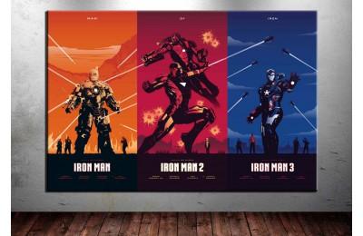 Iron Man Avengers Cinematik Üçleme Kanvas Tablo dkm-vng13