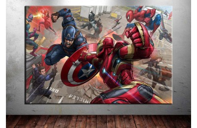 Captain America Iron Man Avengers Kanvas Tablo dkm-vng14