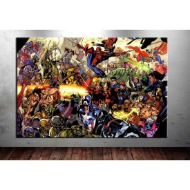 Süper Kahramanlar Kanvas Tablo dkm-vng16