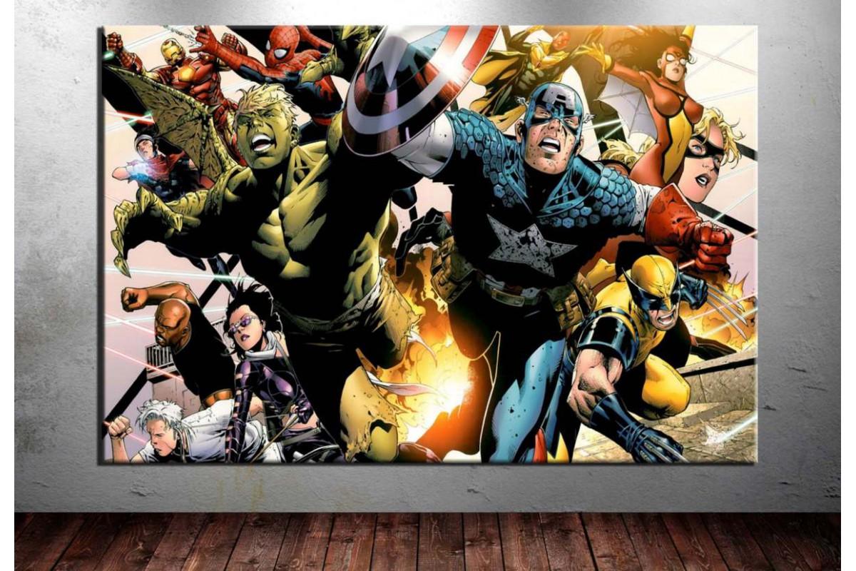 Çizgiroman Kahramanları Kanvas Tablo dkm-vng18