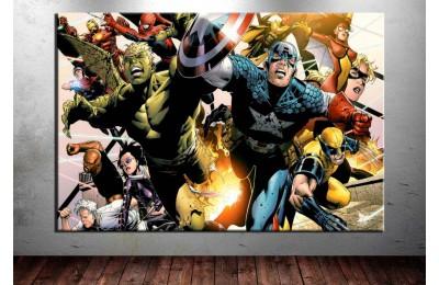 Marvel Kahramanları Kanvas Tablo dkm-vng18