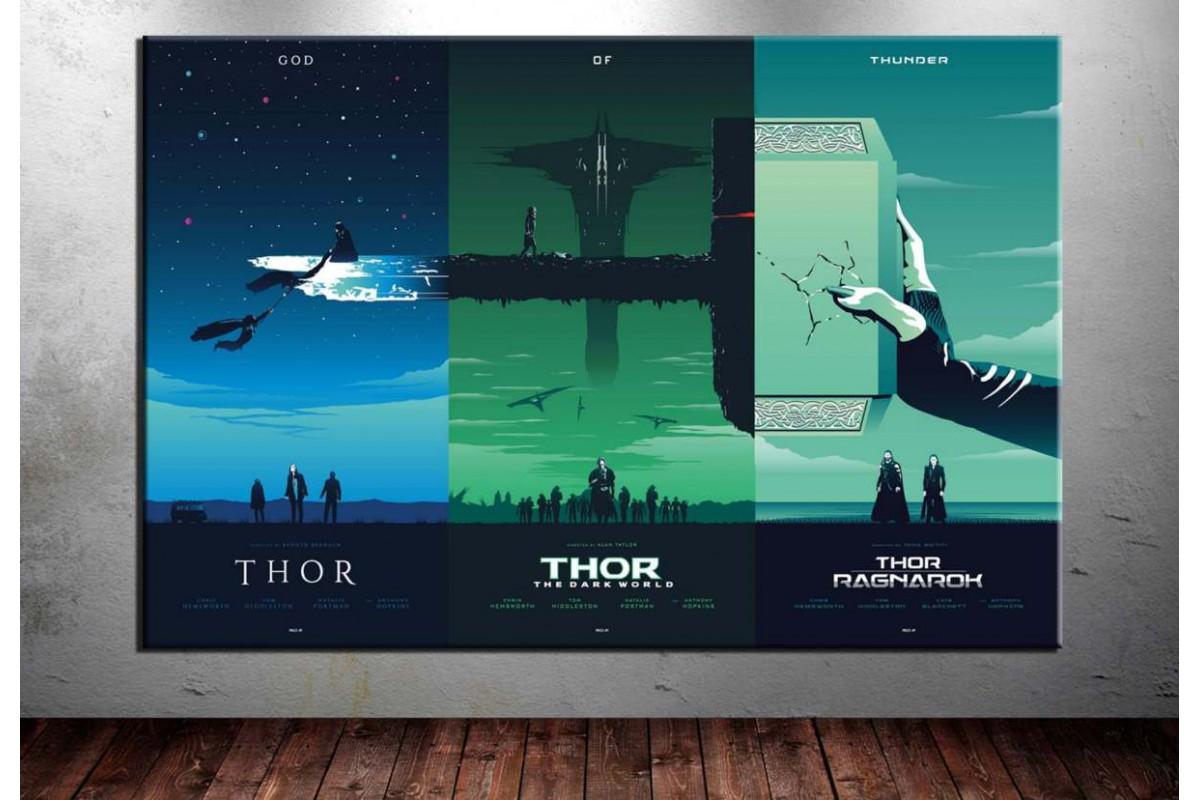 Avengers Thor Cinematik Üçleme Kanvas Tablo dkm-vng23