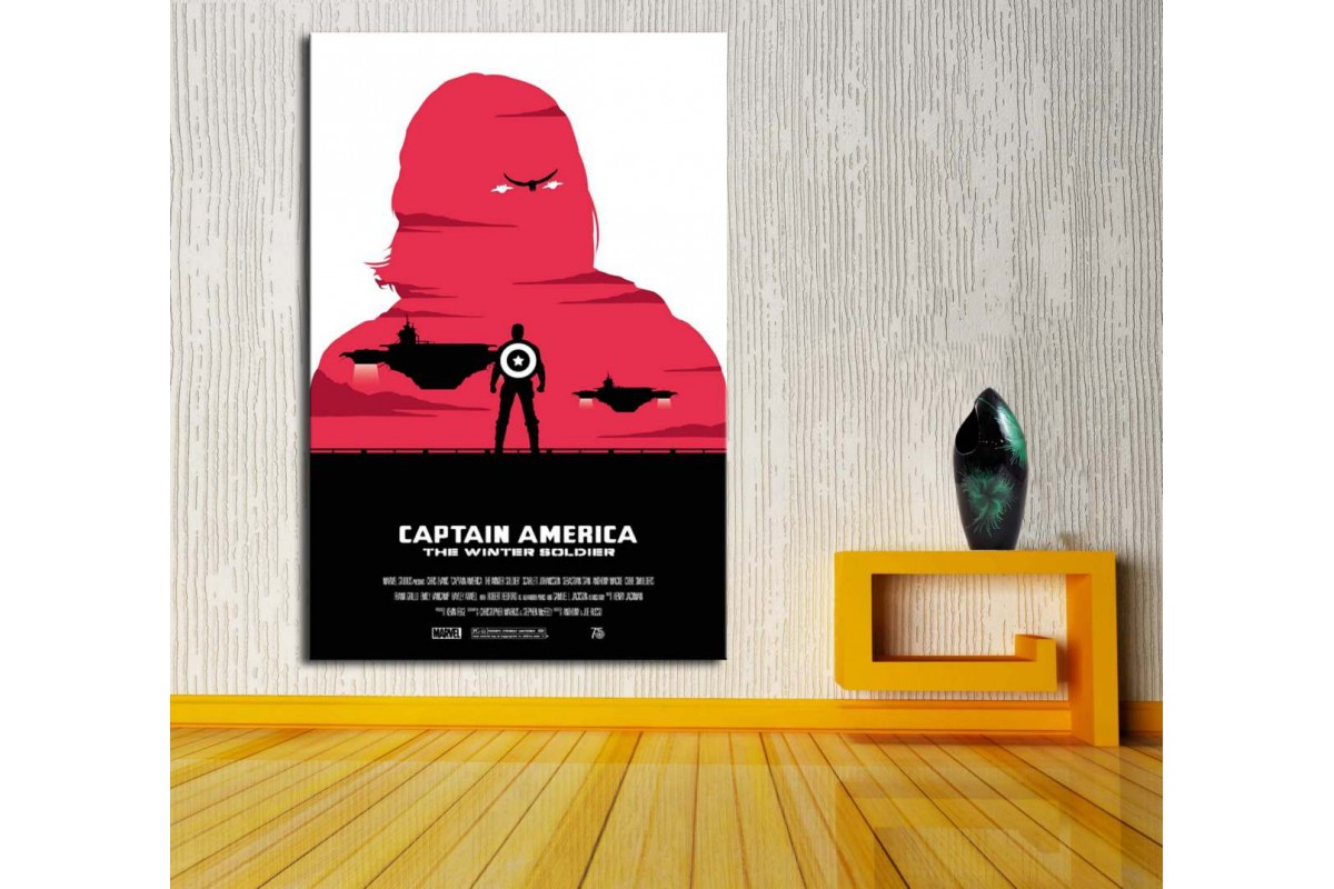 Captain America Winter Soldier Kanvas Tablo dkm-vng30