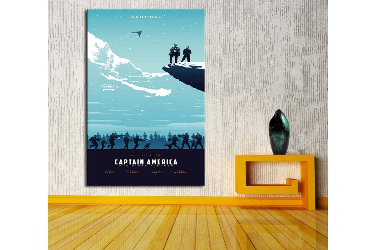 Captain America İlk Avenger Kanvas Tablo dkm-vng31