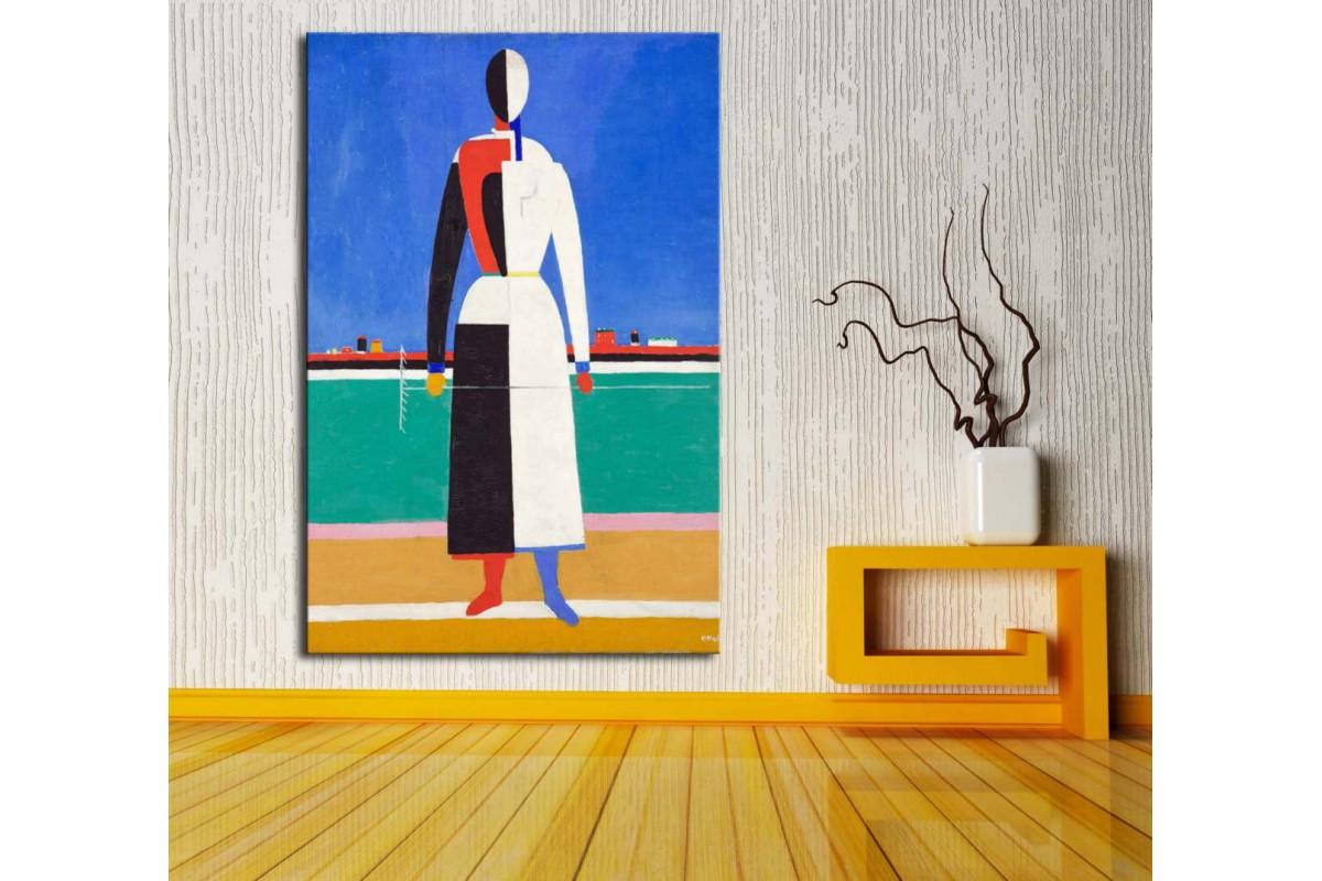 Malevich Kadın Kanvas Tablo dkm123