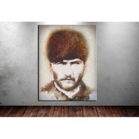 Atatürk Tablosu Trablusgarp Cephesi Dijital Çizim Renkli dkm129R