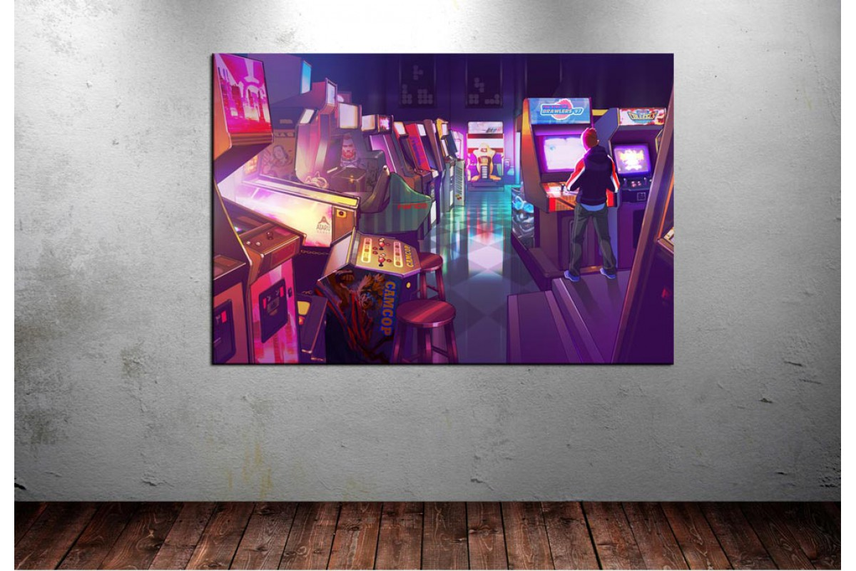 Atari Salonu Seksenler Kanvas Tablo dkm133