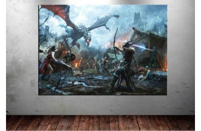 The Elder Scrolls Legends Kanvas Tablo dkm137