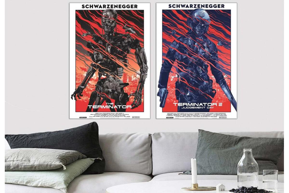 Terminator 1 ve 2 Karakterleri Kanvas Tablo dkm8485