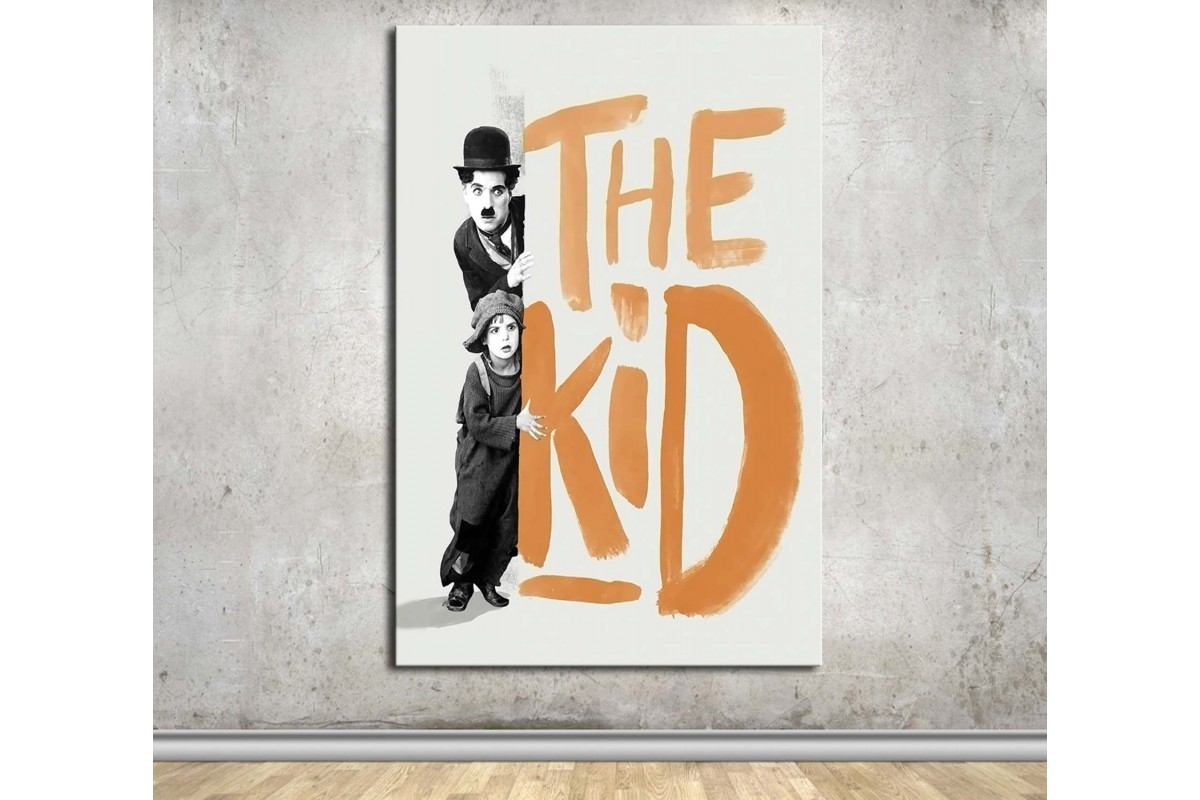 Charlie Chaplin The Kid Kanvas Tablo dkmfl05