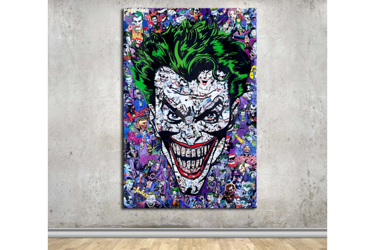 Joker Batman Kanvas Tablo dkmfl09