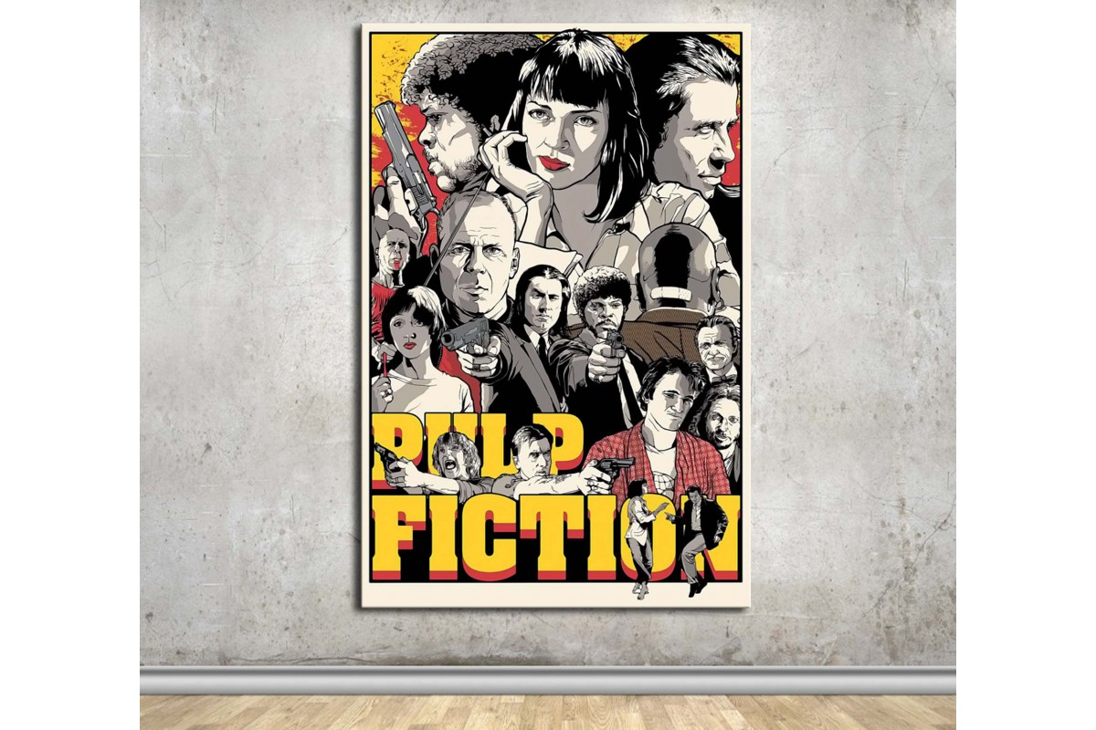 Pulp Fiction Kanvas Tablo dkmfl12