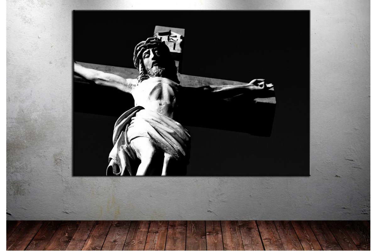 Hazreti İsa Çarmıh Tasvir Kanvas Tablo dkmr145