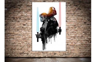 Dkmr150 Luke Skywalker ve Darth Vader Kanvas Tablo