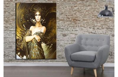 Fantastik Kadın Kanatlar Ön Yağlı Boya Görünüm Kanvas Tablo dkmr154