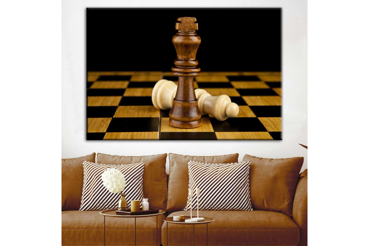 Satranç Taşları Kanvas Tablo dkmr172