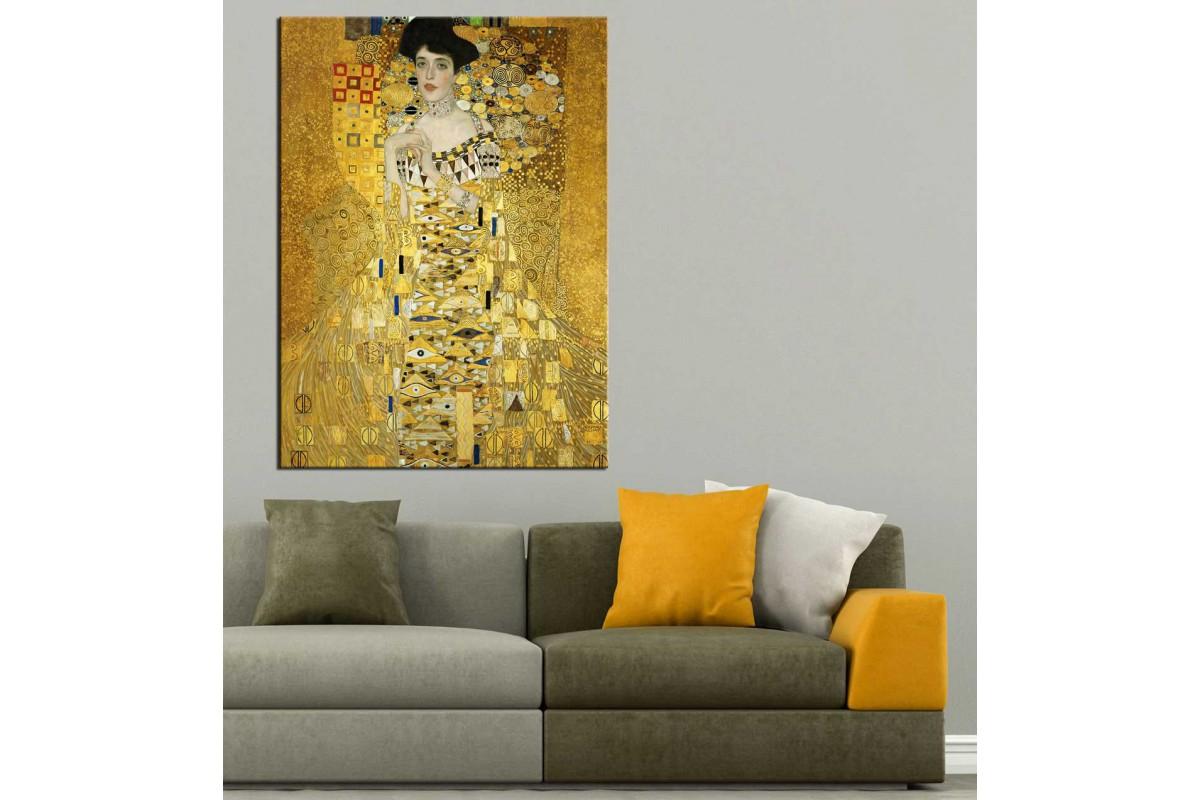 Gustav Klimt Adele Bloch-Bauer'in Portresi Kanvas Tablo dkmr179