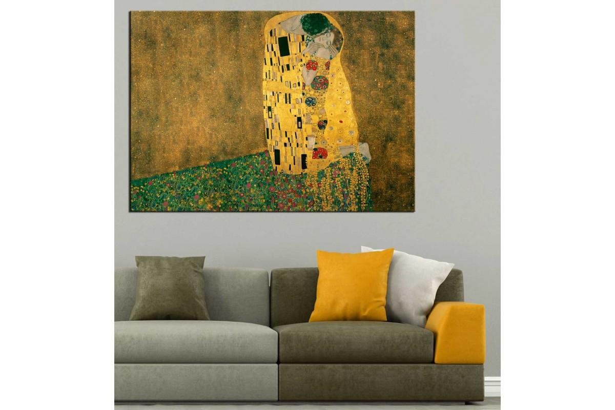 Gustav Klimt Öpüş Kanvas Tablo dkmr180