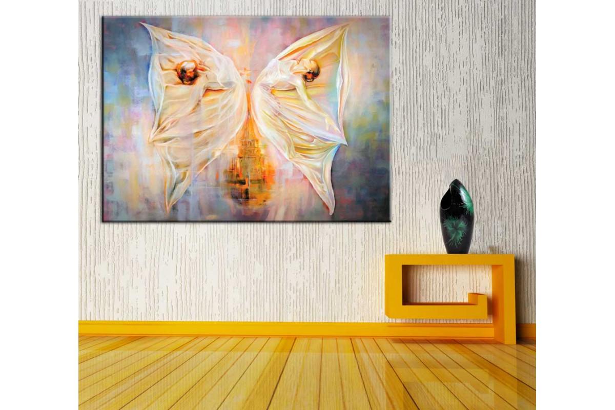 Kelebeklerin Dansı Kanvas Tablo dkmr193