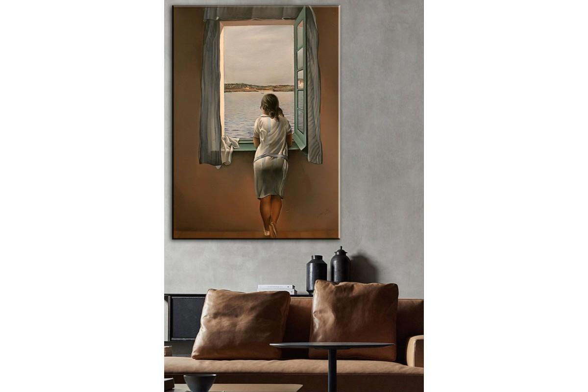 Salvador Dali Penceredeki Kadın Kanvas Tablo dkmr207
