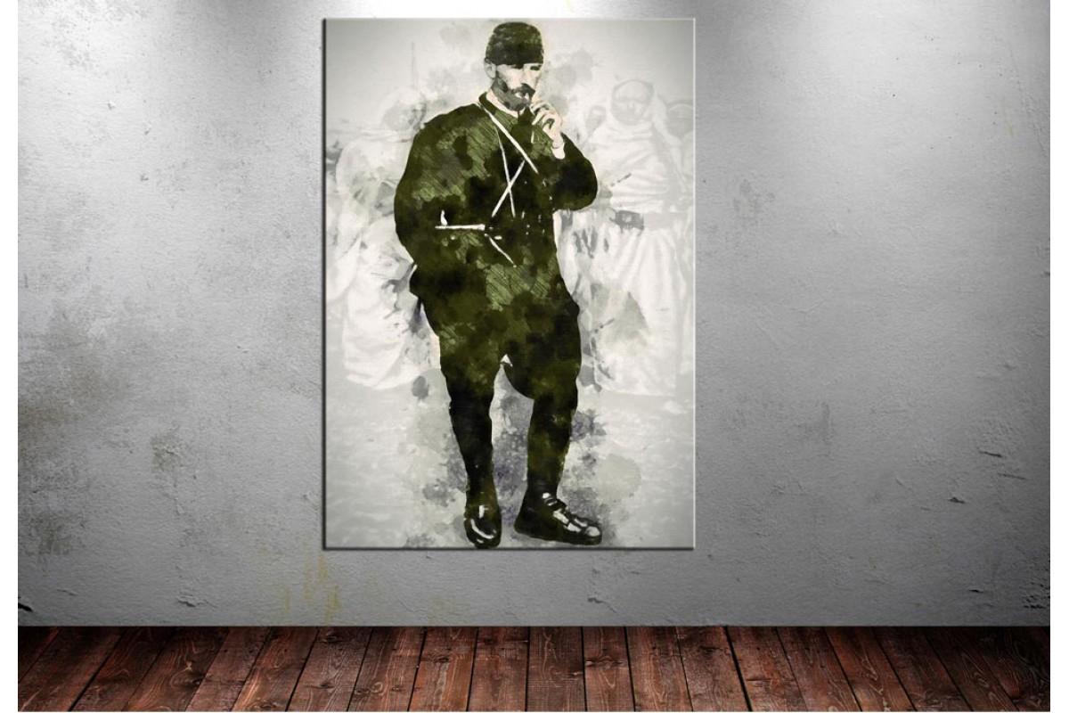 Atatürk Tablosu Trablusgarp Cephesi Dijital Çizim dkmr208