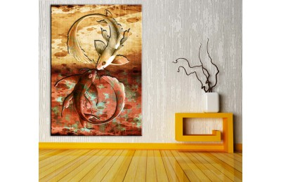 Feng Shui Balıklar Pastel Renkler Kanvas Tablo dkmr214