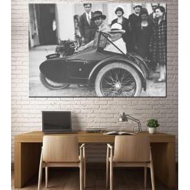 Atatürk Motosiklet Sepeti Siyah Beyaz dkmr221