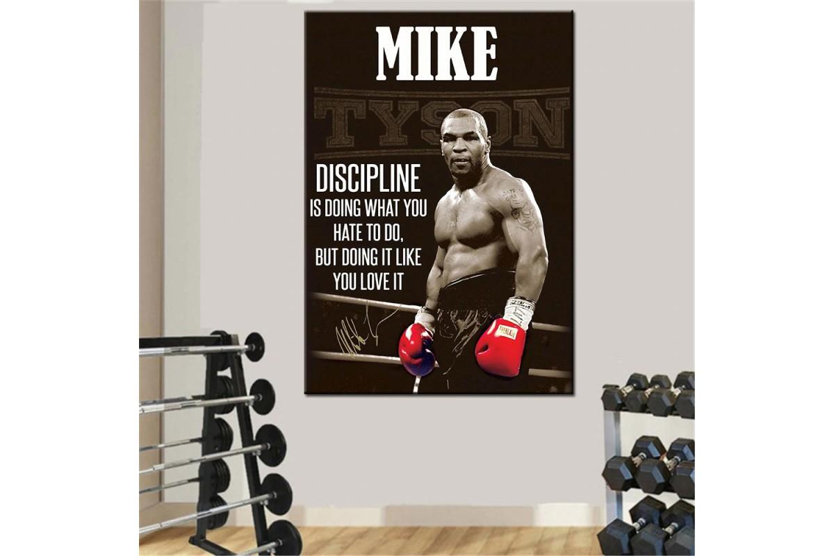 Mike Tyson Boks Spor Motivasyon Kanvas Tablo dkmr222