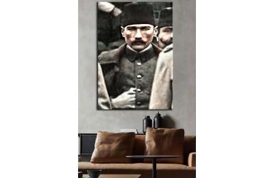 Yüzbaşı Mustafa Kemal Bey Renklendirme Kanvas Tablo dkmr223