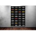 36 Porsche Modeli Tek Tabloda Oto Galeri Tabloları dkmr225