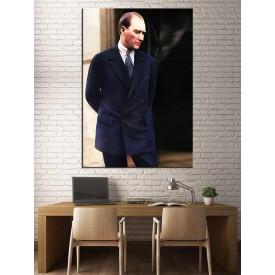 Renklendirilmiş Mustafa Kemal Atatürk Kanvas Tablo dkmr229