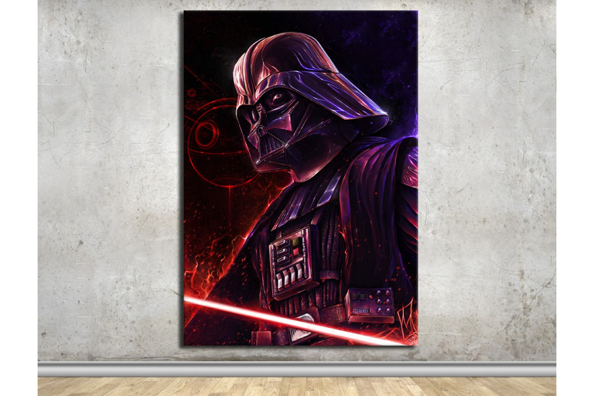 Darth Vader ve Death Star StarWars Kanvas Tablo dkmsw02