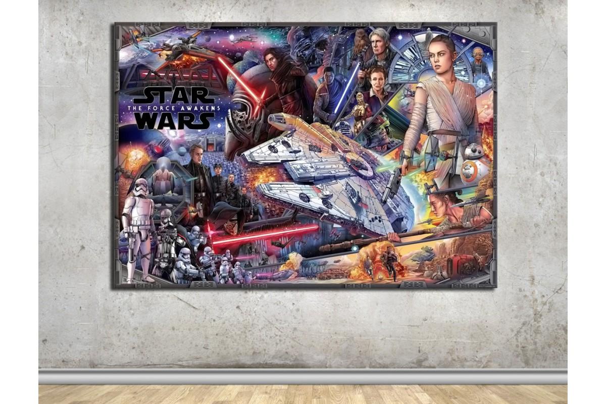 StarWars Karakterleri Çizim Kanvas Tablo dkmsw08