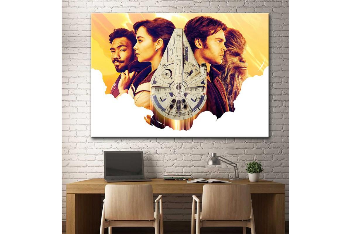 Star Wars Han Solo ve Millennium Falcon Kanvas Tablo dsk-17