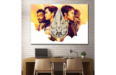 Star Wars Han Solo ve Millennium Falcon Kanvas Tablo dsk-17